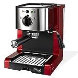 BEEM Germany Espresso Perfect Crema, Espresso-Siebträgermaschine mit 15 bar in brillantrot ( Italienische Profi-Pumpe mit 15 bar )