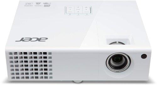 Acer X1373WH 3D WXGA DLP-Projektor (3.000 ANSI Lumen, Kontrast 13.000:1, WXGA 1280 x 800 Pixel, HD Ready, 1x HDMI/MHL mit HDCP Unterstützung) weiß