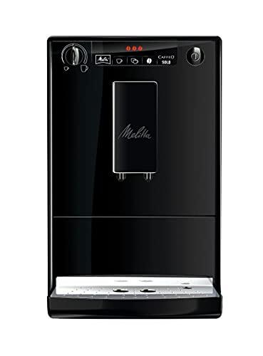 Melitta Caffeo Solo E 950-222 Kaffeevollautomat (Exzellenter Kaffee-Genuss dank Vorbrühfunktion und herausnehmbarer Brühgruppe) pure black