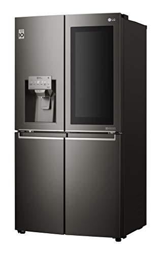 LG GMX936SBHV Kühlschrank, freistehend, schwarz, 571 l, A+ – amerikanischer Kühlschrank (freistehend, Schwarz, Französische Tür, LED, Tür, Stahl)