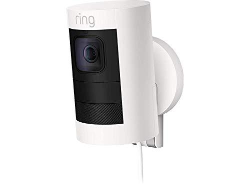 Ring Stick Up Cam Elite HD-Sicherheitskamera mit Gegensprechfunktion, Weiß, funktioniert mit Alexa