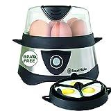 Russell Hobbs Eierkocher, 1 bis 7 gekochte oder 3 gedämpfte Eier (inkl. Dampfgarer-Einsatz), automatische Abschaltung, Signalton, BPA-frei, inkl. Messbecher, Testsieger, Cook@Home 14048-56