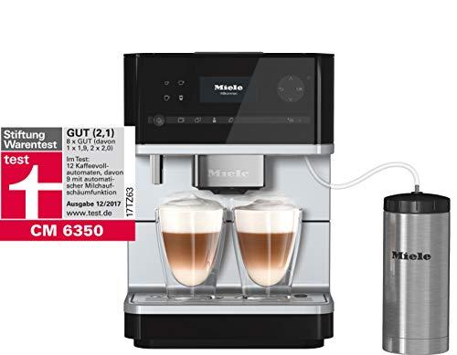 Miele CM 6350 Kaffeevollautomat (OneTouch- und OneTouch for zwei-Zubereitung, vier Genießerprofile, Tassenwärmer, Heißwasserauslauf, Tassenbeleuchtung, automatische Spülprogramme) schwarz