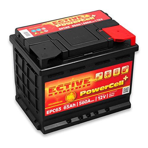 ECTIVE 63Ah 560A EPC-Serie 12V Autobatterie in 8 Varianten: 46Ah - 100Ah (wartungsfrei)